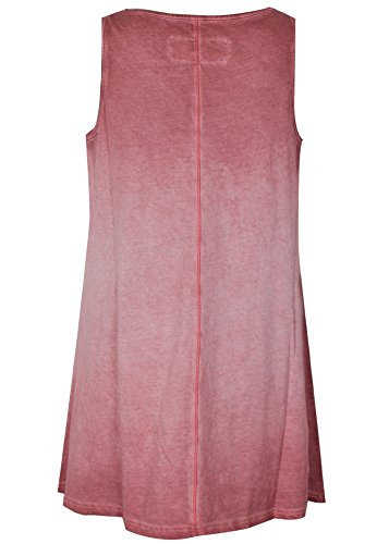 Trueprodigy Damen T-Shirt Saty Wild Tanktop grau schwarz - weit geschnitten Red