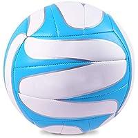 CN Examen de Entrada de Voleibol, Inflable, Suave, de la Escuela Secundaria, Estudiantes universitarios, enseñanza Deportiva, Voleibol,Azul Blanco,5