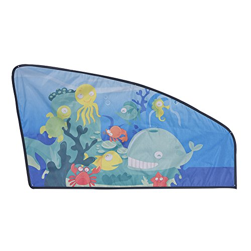 Zerodis Sonnenblenden Universal Auto Magnetische Seitenfenster Cartoon Abdeckung Sonnenschutz für Baby Kinder (Ocean-Front Left Window) (Ocean Sonnenschutz)