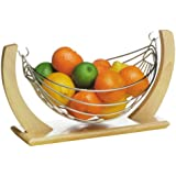 Premier Small Fruit Hammock, Rubber Wood and Chrome