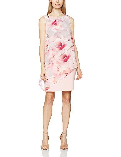 Wallis Damen Kleid Tierred Overlayer Rosa (Blush)