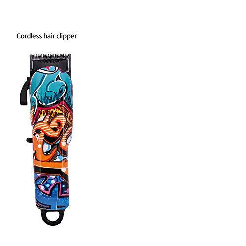 Kabelloser USB-Haarschneider Graffiti Farbetrimmer Professioneller Elektrischer Rasierer Werkzeug Einstellbar Und Präzise Herren Friseur Friseursalon,E