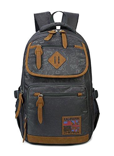 Keshi Canvas New Style Girls Backpack Satchel Grigio