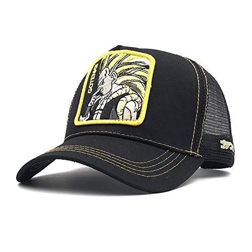 sdssup Gorra de béisbol Sombrero Anime Vegeta Sombrero de Malla de Verano Sombrero Bordado G Ajustable