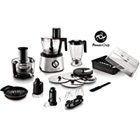 Philips Avance Collection Multi- function Food Processor HR7778/01, 1300W, Compact 4in1 setup, 3.4L bowl with Stainless Steel Disc, 2.2L Blender, Centrifugal Juicer + Citrus Press, Metal Kneading Hook