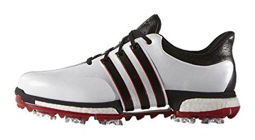 Adidas tour360 boost, scarpe da golf uomo, multicolore (blanco/negro/rojo), 41 1/3 eu (w)