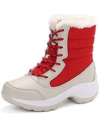 6c151c1d0db6f NAFTY Zapatos De Mujer Botas de Invierno Blancas Botas de Nieve para Mujer  Zapatos de Mujer