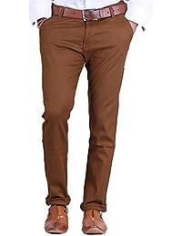 Van Galis Fashion Wear Dark Brown Formal Trouser For Men