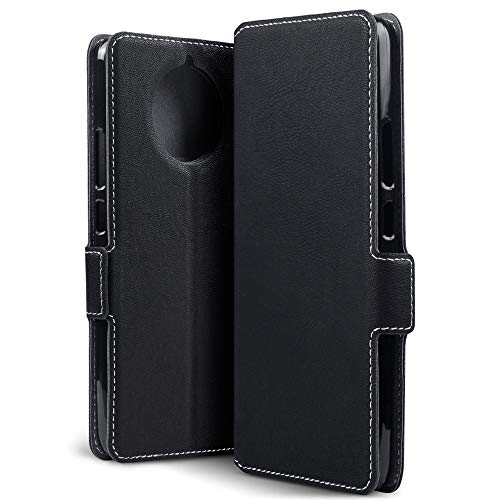 TERRAPIN, Kompatibel mit Nokia 9 PureView Hülle, Leder Tasche Case Hülle im Bookstyle mit Standfunktion Kartenfächer - Schwarz EINWEG