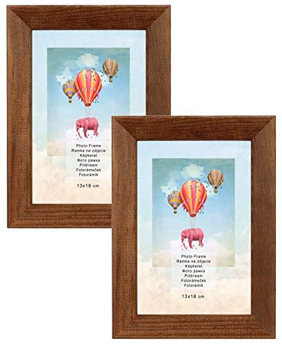Postergaleria Bilderrahmen Plexiglas Bilder Foto Rahmen Posterrahmen mit Einer Rückwand aus Holz. (Braun, 13x18 cm) (Braun Bilderrahmen)