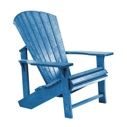 Silla Muskoka C01 de Adirondack, silla de jardín exterior 100% polietileno...