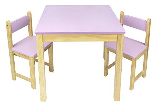 Mobili Per Bambini In Legno : Tavolo in legno due sedie set tavolino sgabelli tavolo per camera