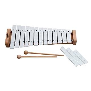 Goldon - Alt-Metallophon, 13+3 weiße Klangplatten, diatonisch mit 2 Schläger