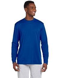 Harriton mens 4.2 oz. Athletic Sport Long-Sleeve T-Shirt(M320L) -  Blue -