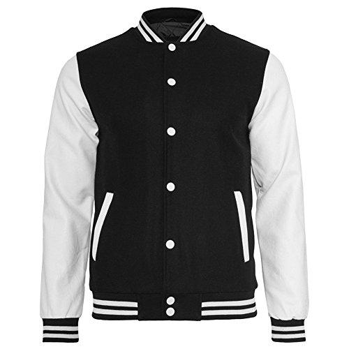 Urban Classics TB201 Herren Jacke Bekleidung Oldschool College Jacket Black/White