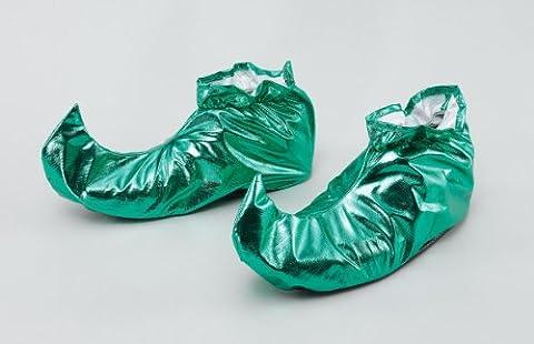 Jester Shoe Covers. Green Metallic