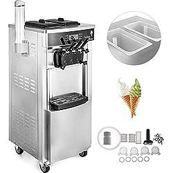 SucceBuy Machine à Crème Glacée Enfant Verticale Professionnel Sorbetière à Glace Ice Cream Machine