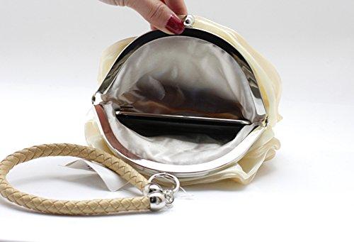 Sxon, Womens Clutch Bianco Bianco S Abricot