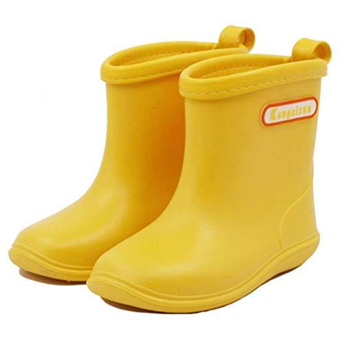 Stivali da pioggia per Bambini.Morbide Scarpe antipioggia in PVC Resistente.Impermeabile antiscivolo...