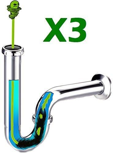 3-pack-of-green-gobbler-hair-grabber-tool-drain-snake-hair-clog-remover-drain-opener-sinks-tubs-by-g