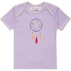 Sense Organics Tilly Retro T-Shirt Mit Schlupfkragen, Camiseta para Bebés, Mehrfarbig (Pale Lilac + Applic 600032), 74 cm