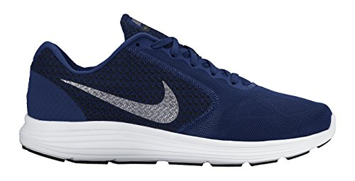 Nike Revolution 3, Running homme Bleu (Deep Royal Blue/Metallic Cool Grey/Black/White 400)