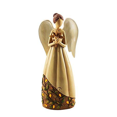 (Missley Harz Engel Statue Schön Jungfrau Maria Skulptur Hochzeit und Kirche Dekoration Weihnachten (Braun-Star))