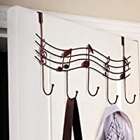Grea Creative Music Notes Wall Hooks Kitchen Bathroom Organizer Hanger Hooks Mental Iron Hanging Rack With 5-Hook