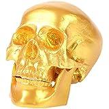 Adorno Hogar Artes Cráneo Humano Réplica de Resina Modelo Médico para Partido Fiesta - Oro