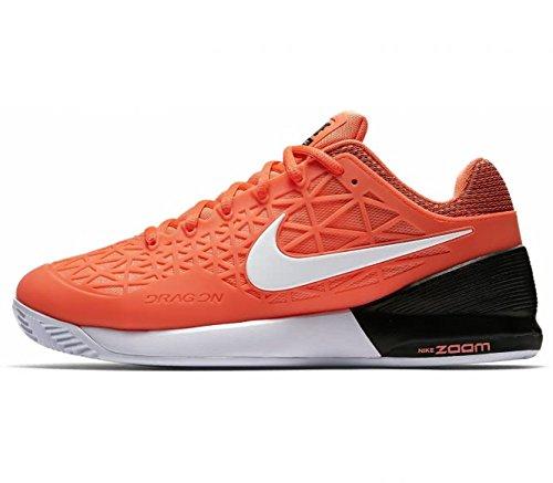 Nike–Zoom Cage 2Clay Uomo Scarpe da tennis ,5? US 9 orange