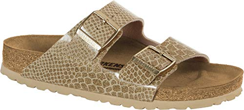 BIRKENSTOCK Pantolette Arizona BF Magic Snake Gold Gr. 35-43 1011764, Größe + Weite:42 normal, Farben:Magic Snake Gold