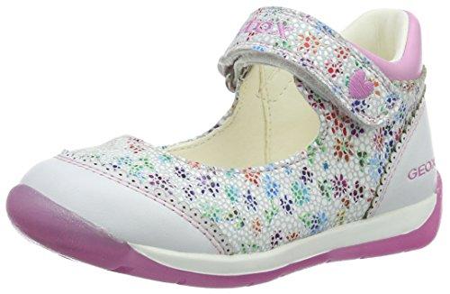 Geox B Each B, Chaussures Marche Bébé Fille Blanc (Whitec1000)