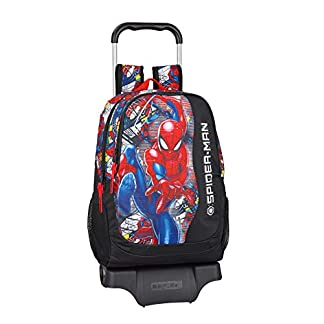 Spiderman «Super Hero» Oficial Mochila Escolar Con Carro 330x150x430mm