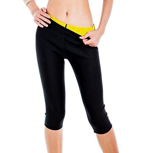 Valentina Damen Slimming Pants Hot thermo Neopren Schweiß Sauna Body Shapers, Herren unisex Kinder damen, schwarz