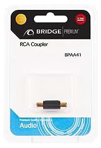BRIDGE-premium-adaptateur rCA/prise rCA-prise