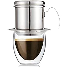 Cafetera de filtro, filtros de goteo de café vietnamita de acero inoxidable, olla de