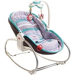 Tiny Love Hamaca balancín convertible 3 en 1 para bebé, Gris/Turquesa