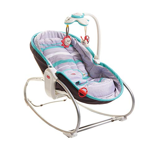 Tiny Love ROCKER NAPPER 'Grey-Turquoise' - Balancín convertible 3 en 1 para...