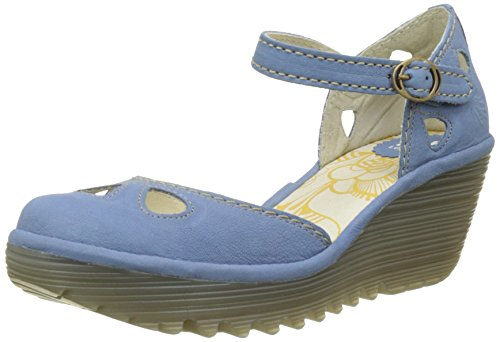 Fly London Women Yuna Closed-Toe Pumps, Blue (Smurf 125), 6 UK 39...