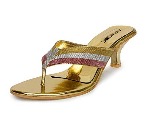 Vendoz Women Wedding Golden Heels - 39 EU