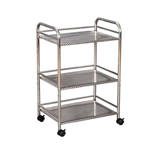 3-Tier-Mikrowelle Stand Lagerung Wagen mit Rad Küche Ofen Rack Warenkorb Workstation Regal (40 * 35 * 75 cm) (größe : 75cm) (Mikrowelle Stand Warenkorb)