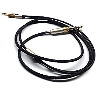 Replacement Audio Upgrade Cable Compatible with Denon AH-D600, AH-D7200, AH-D7100, AH-D9200, AH-D5200, Meze 99 Classics, Focal Elear Headphones Black 1.5meters/4.9ft