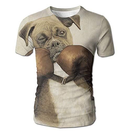 Männer 100% umweltfreundlich The Boxer Dog Big Boss Kurzarm T-Shirts