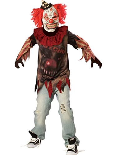 Fancy Me Jungen Teens Sideshow Clown Horror Zirkus Gruselig Halloween Karneval Kostüm Kleid Outfit 10-16 Jahre - 14-16 Years