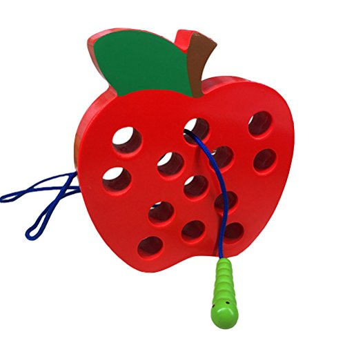 lt Spielzeug Montessori Aktivität frühes Lernen pädagogische Holzblock Puzzles für Kinder (rot) ()