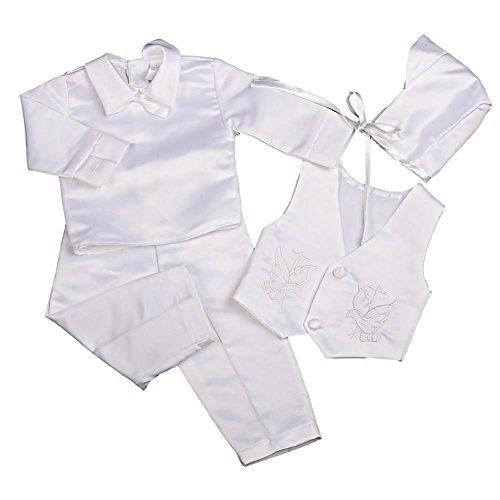 Lito Angels - Ropa de bautizo - para bebé niño blanco White (Long Sleeves) 3 mes