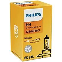 Philips Vision Señalización e iluminación interior coche H4Faro Bombilla Lámpara de Cabeza, baja alta Passing reunión Beam bombilla hasta 30%