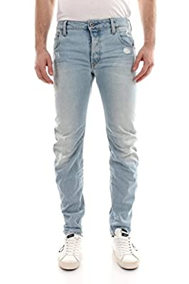 G-Star RAW Men's Arc 3d Slim Light Aged Destroyed Jeans