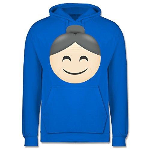 Comic Shirts - Oma Emoji - Männer Premium Kapuzenpullover / Hoodie Himmelblau