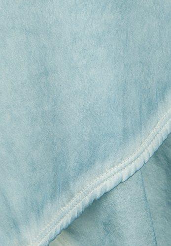 Bleu Max Femme Soie Top Riga Turquoise - dusty sky